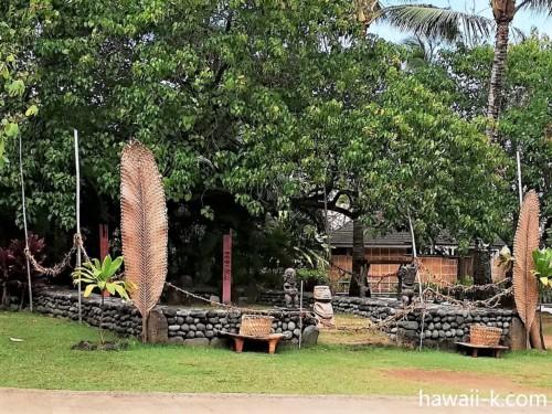 タヒチ村の神殿