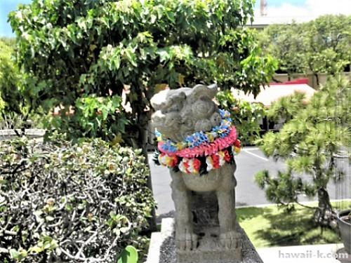 ハワイの狛犬さん