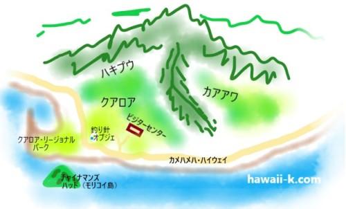 クアロアランチゆるい地図